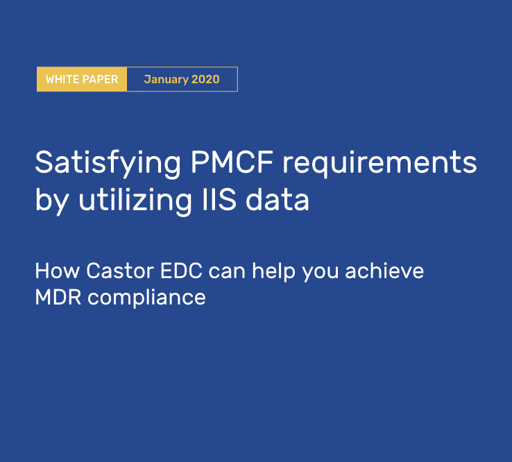 White paper: Satisfying PMCF requirements by utilizing IIS data